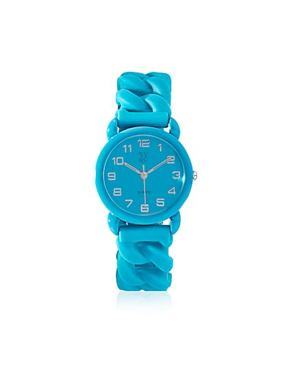 Colorful Rubber Link Watch - New York & Company