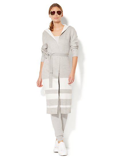 Contrast-Stripe Duster - New York & Company