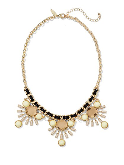 Corded Sunburst Necklace  - New York & Company
