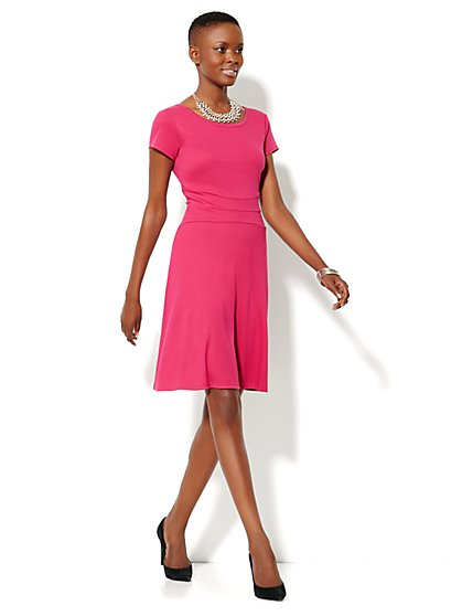 Cotton Flare Dress - New York & Company