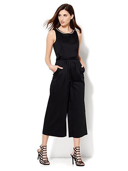 Cotton Gaucho Jumpsuit - New York & Company