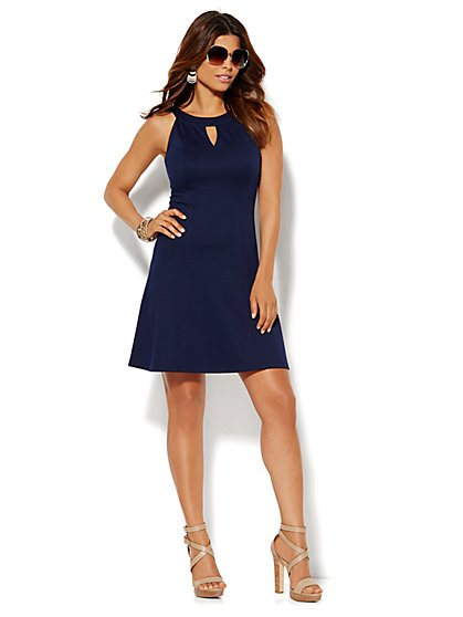 Cotton Halter Dress - New York & Company