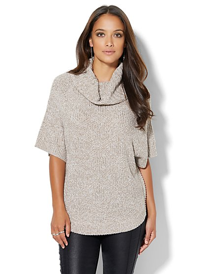 Cowl-Neck Dolman Sweater - Marled - New York & Company