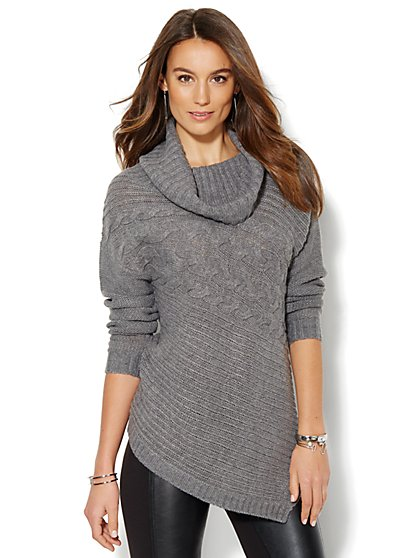 Cowl-Neck Poncho - New York & Company