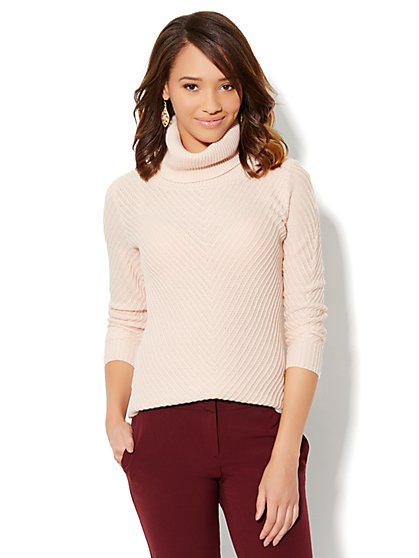 Cowl-Neck Ribbed Sweater - New York & Company
