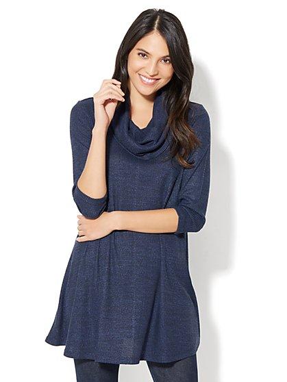 Cowl-Neck Tunic Sweater - New York & Company