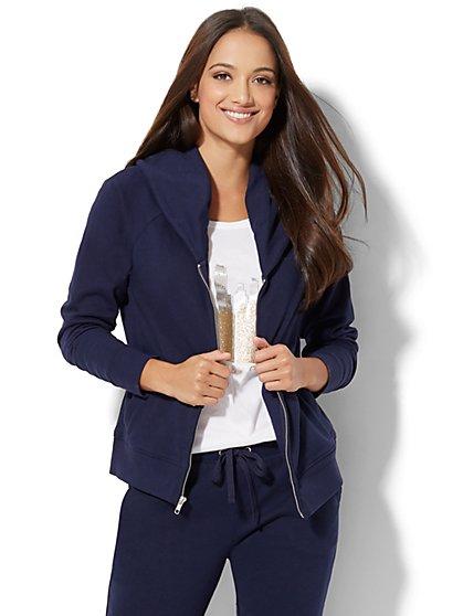 Cozy Shawl-Collar Fleece Jacket - New York & Company
