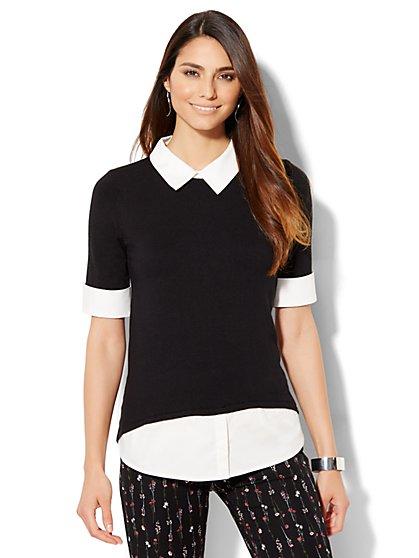 Crewneck Twofer Sweater - New York & Company