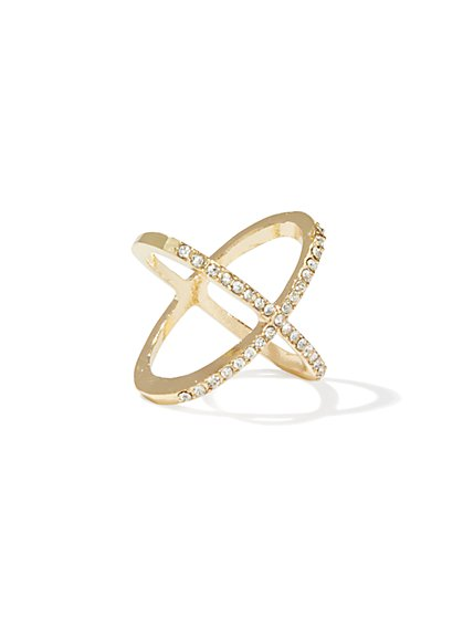 Criss-Cross Mixed-Metal Ring - New York & Company