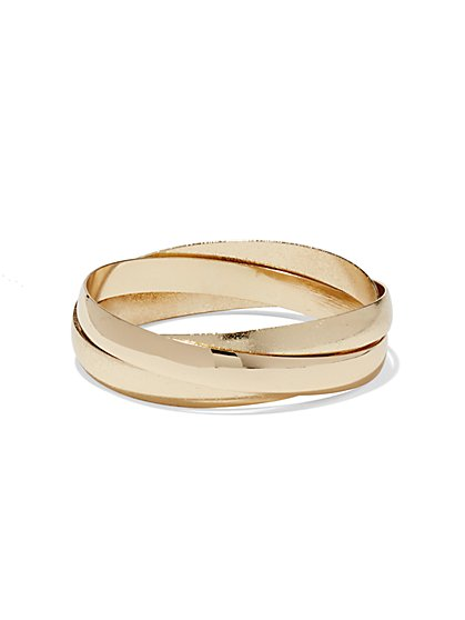 Crisscross Bangle Set  - New York & Company