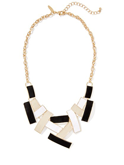 Crisscross Bib Necklace  - New York & Company