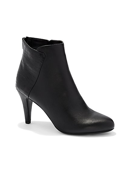 Croc-Accent Bootie  - New York & Company