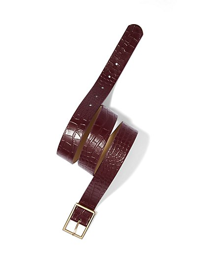 Croc-Embossed Belt  - New York & Company