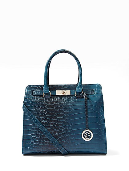 Croc-Embossed Tote  - New York & Company