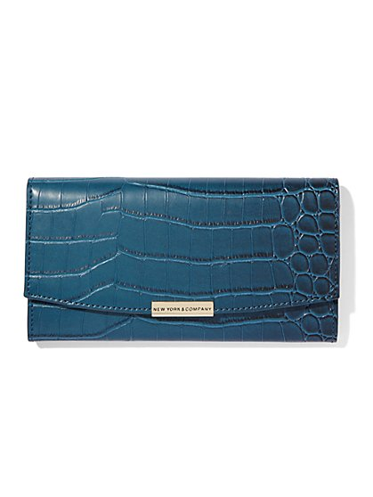 Croc-Embossed Wallet  - New York & Company