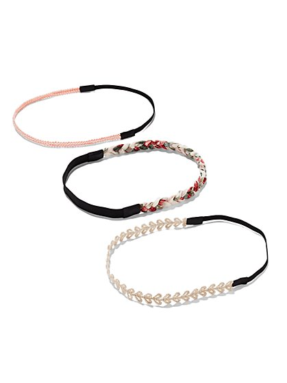 Crochet & Braided Headband Set  - New York & Company