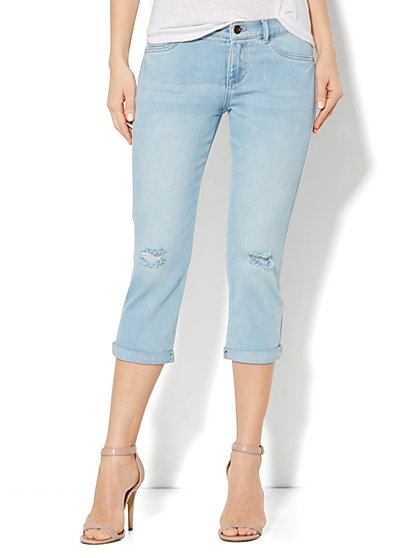 Crop Legging – Tundra Blue Wash - New York & Company