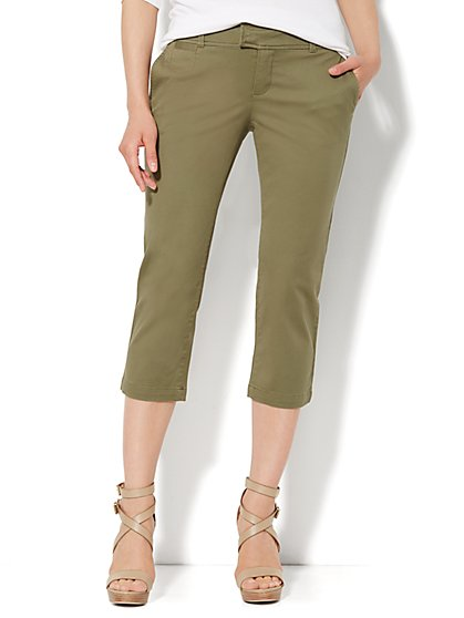 Crop Twill Pant - New York & Company
