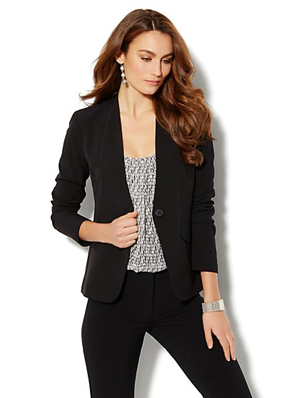 Crosby Street City Double Stretch Jacket - Average - New York & Company