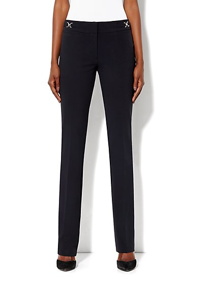 Crosby Street City Double Stretch Straight Leg Pant - Average