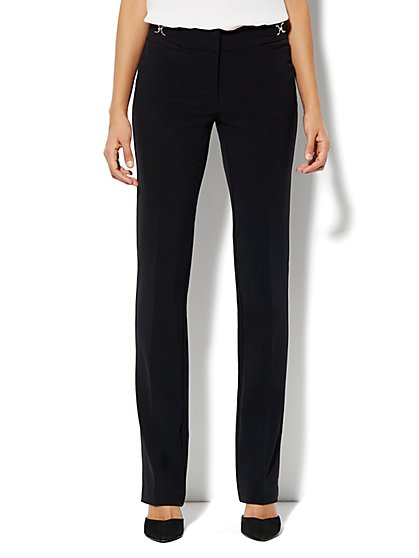 Crosby Street City Double Stretch Straight Leg Pant - Tall