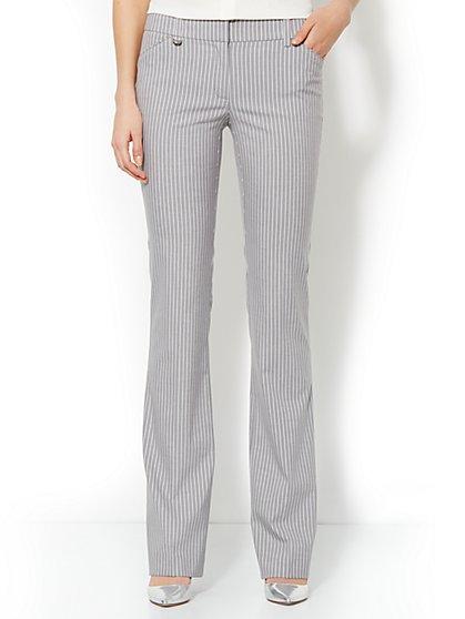Crosby Street Mini Bootcut Pant - Triple Stripe Suiting - Average - New York & Company