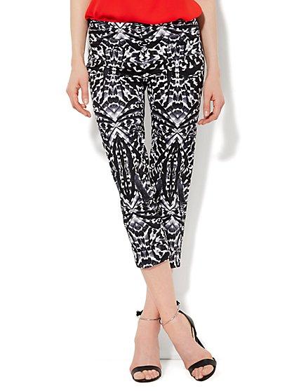 Crosby Street Pant - Slim Leg Crop - Kaleidoscope Print  - New York & Company