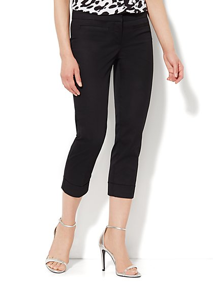 Crosby Street Pant - Slim Leg Crop - Solid  - New York & Company