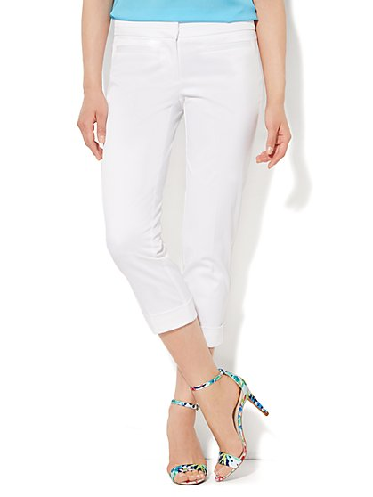 Crosby Street Pant - Slim Leg Crop - Twill - New York & Company
