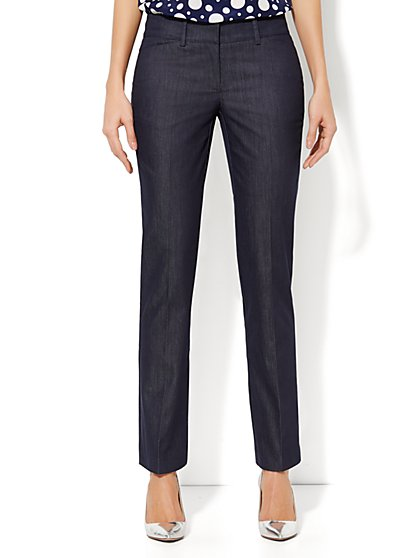 Crosby Street Slim Leg Pant - Hidden Blue