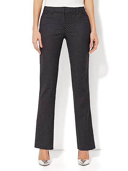 Crosby Street Slim Leg Pant - Polka-Dot Print - Average