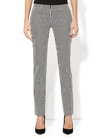 Crosby Street Slim Leg Pant - Striped