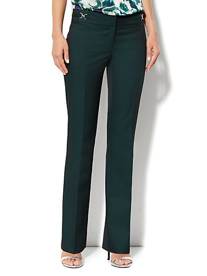 Crosby Street Straight Leg Pant - Green Street - New York & Company