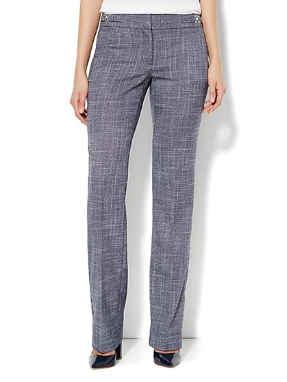Crosby Street Straight Leg Pant - Navy - Petite - New York & Company
