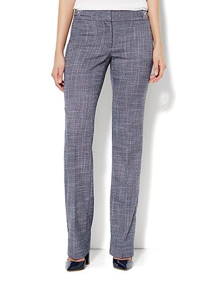 Crosby Street Straight Leg Pant - Navy - Petite - New York & Company