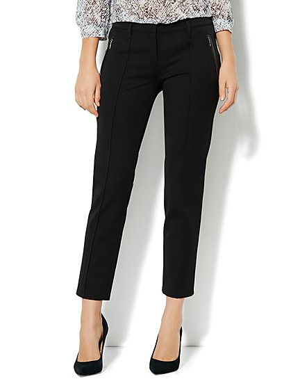 Crosby Street SuperStretch Slim Leg Pant - Pintuck - New York & Company