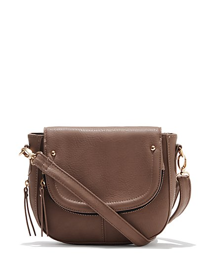 Crossbody Saddle Bag  - New York & Company