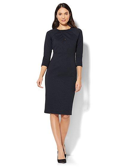 Crossover-Detail Sheath Dress - Petite - New York & Company
