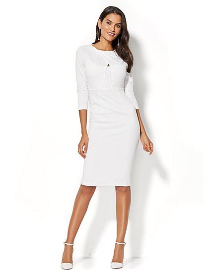 Crossover-Detail Sheath Dress - Tall - New York & Company
