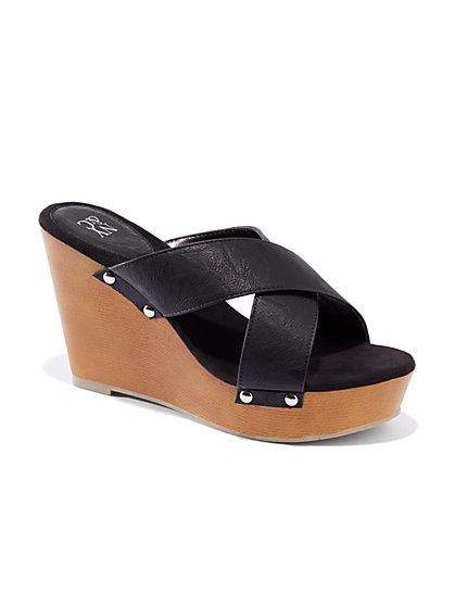 Crossover-Strap Wedge - New York & Company