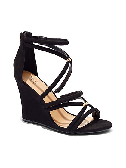 Crossover Wedge-Heel Sandal  - New York & Company