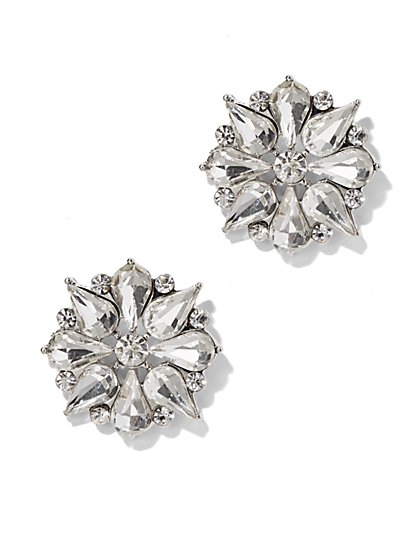 Crystal Flower Post Earring - New York & Company