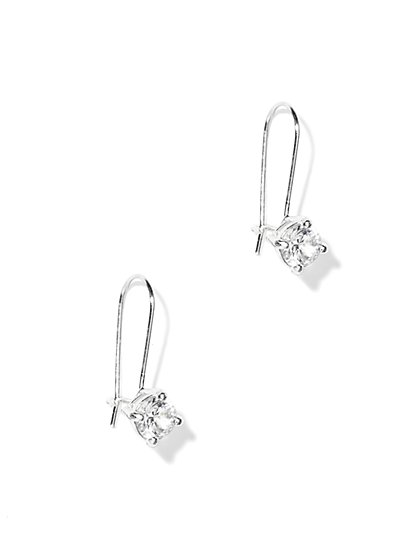 Cubic Zirconia Stud Drop Earrings - New York & Company