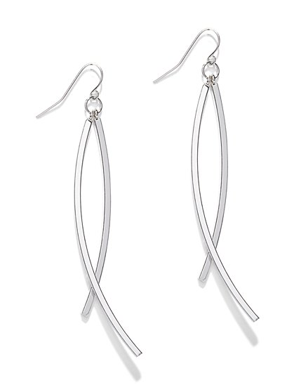 Curved Linear Drop Earring  - New York & Company