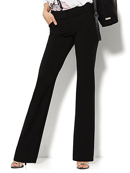 Curvy Bootcut Pant - Black  - New York & Company