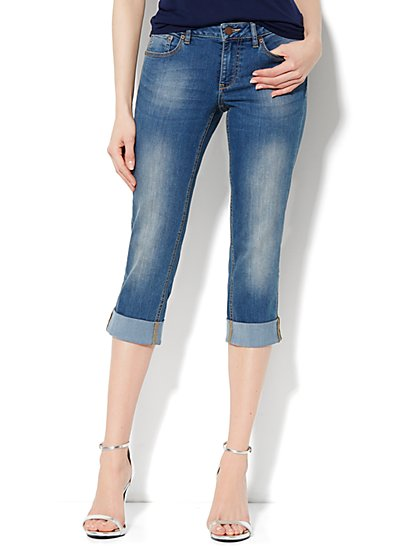 Curvy Skinny Crop - Hudson Blue Wash - New York & Company