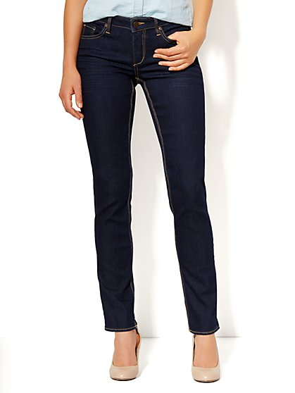 Curvy Skinny Jean - Dark Midnight Wash - Tall