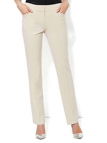 Curvy Straight Leg Pant - City Double Stretch - Tall - New York & Company