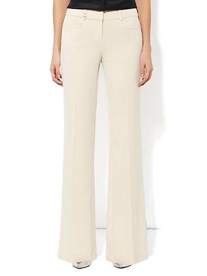 Curvy Wide Leg Pant - Double Stretch - Petite