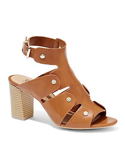 Cutout Ankle-Strap Sandal  - New York & Company